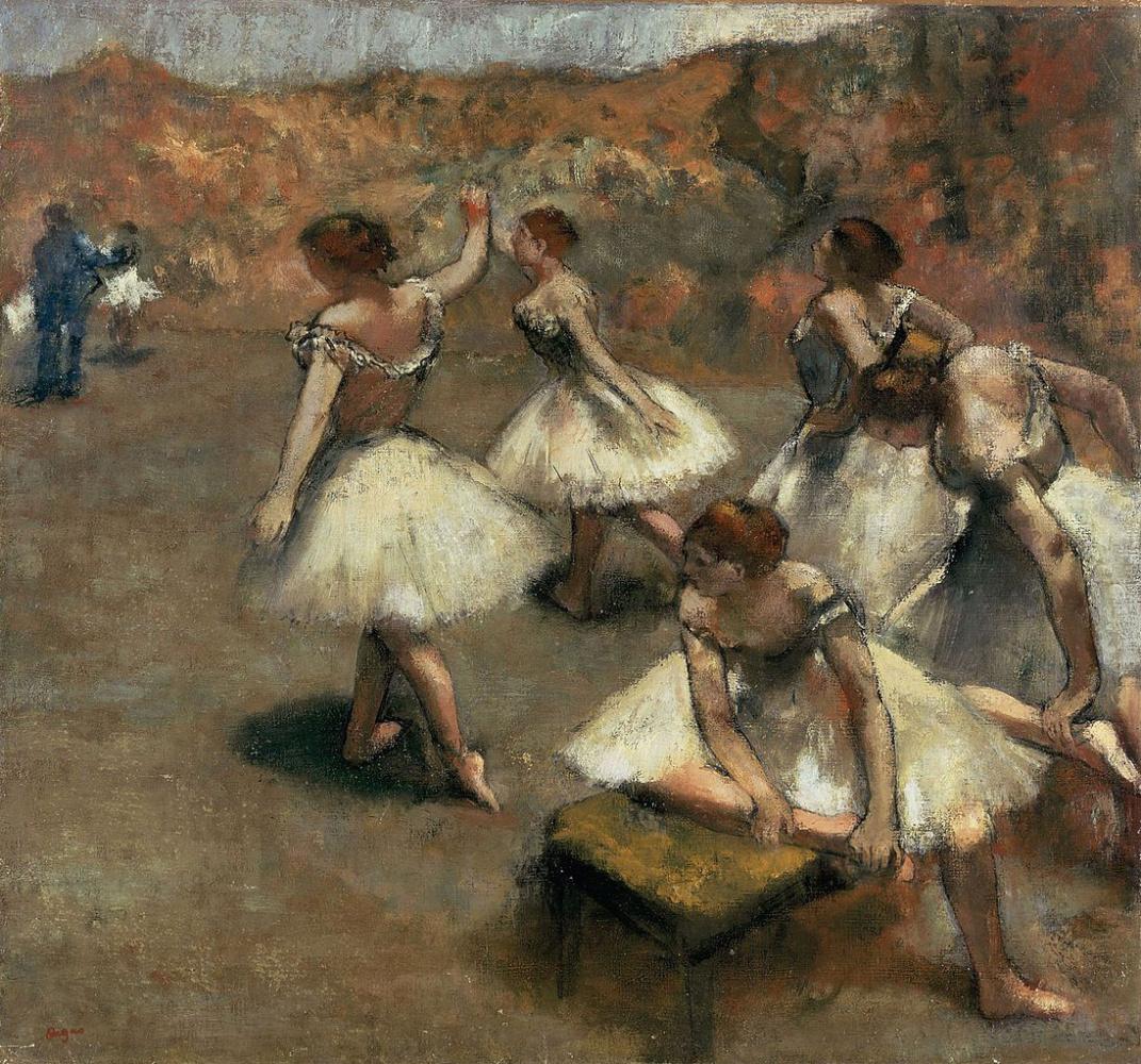 Edgar Degas. Dancers on stage