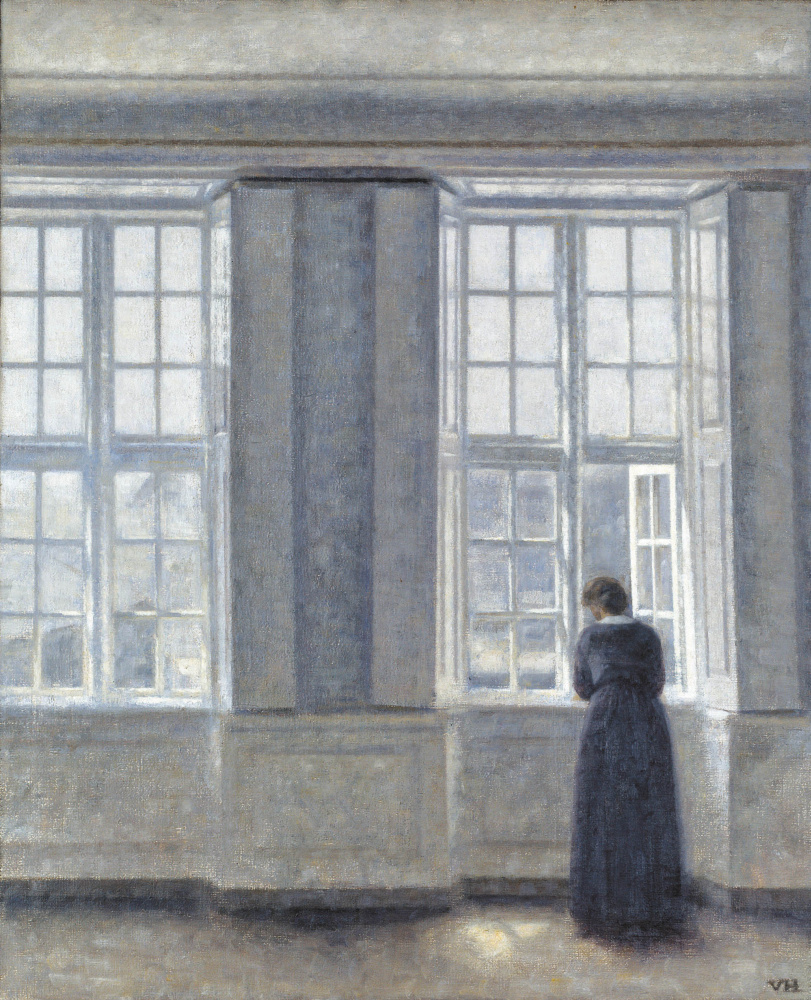 Vilhelm Hammershøi. Woman at the high window