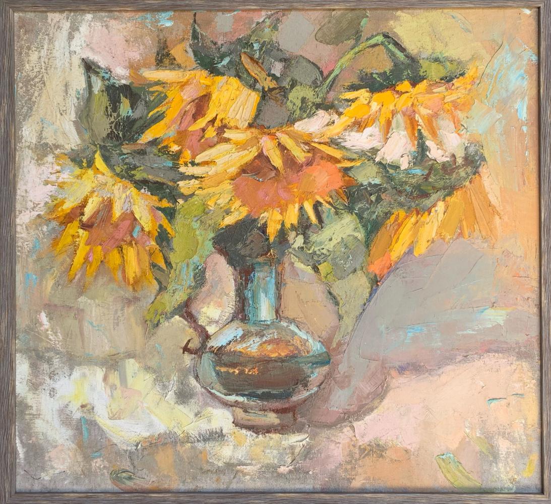 Alena Sukhoborova-Kazarina. Sunflowers