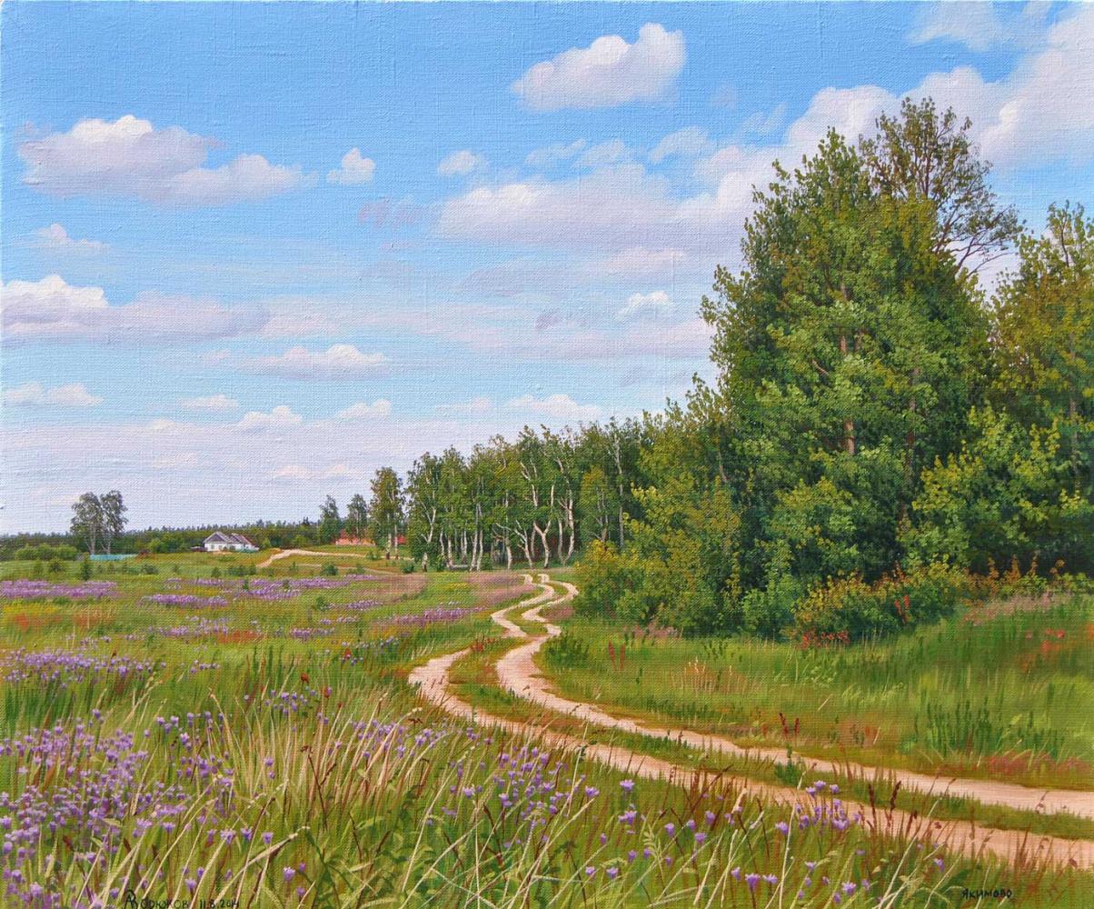Alexander Vasilyevich Zoryukov. Bells near the country road