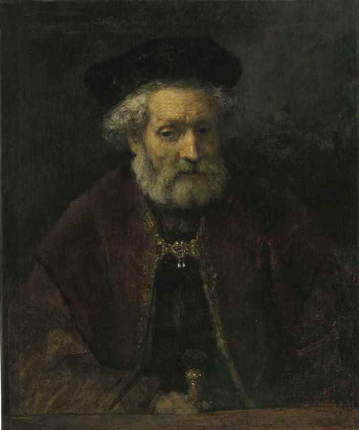 Rembrandt Harmenszoon van Rijn. Portrait of a bearded old man