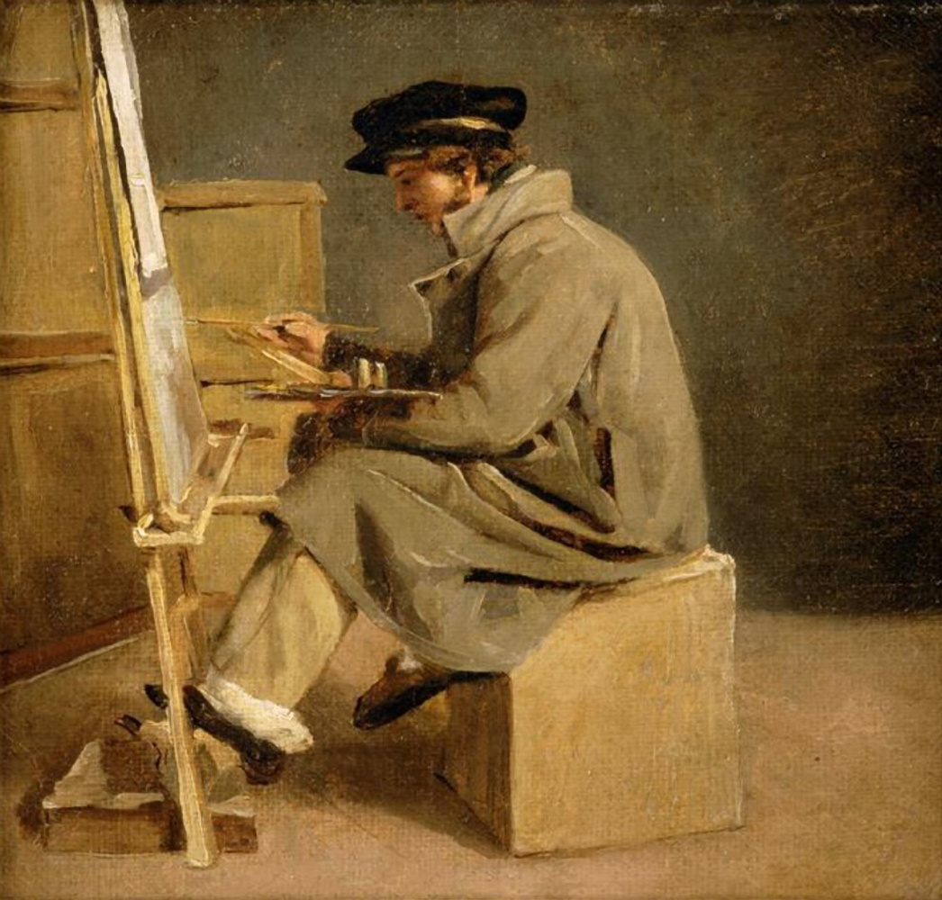 Théodore Géricault. Young artist at the easel