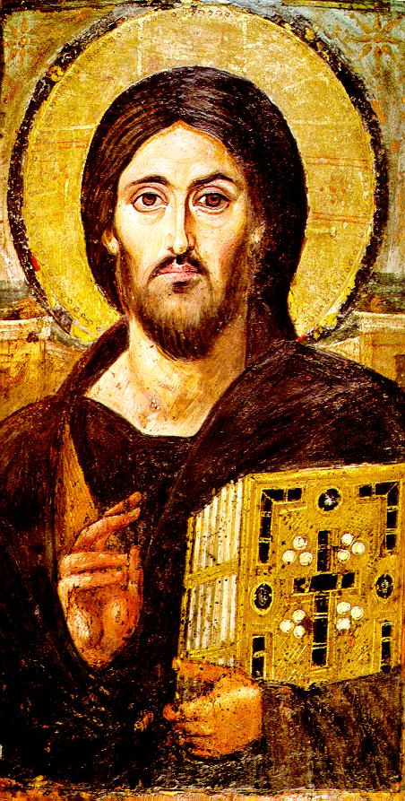 Icon Painting. Christ Almighty