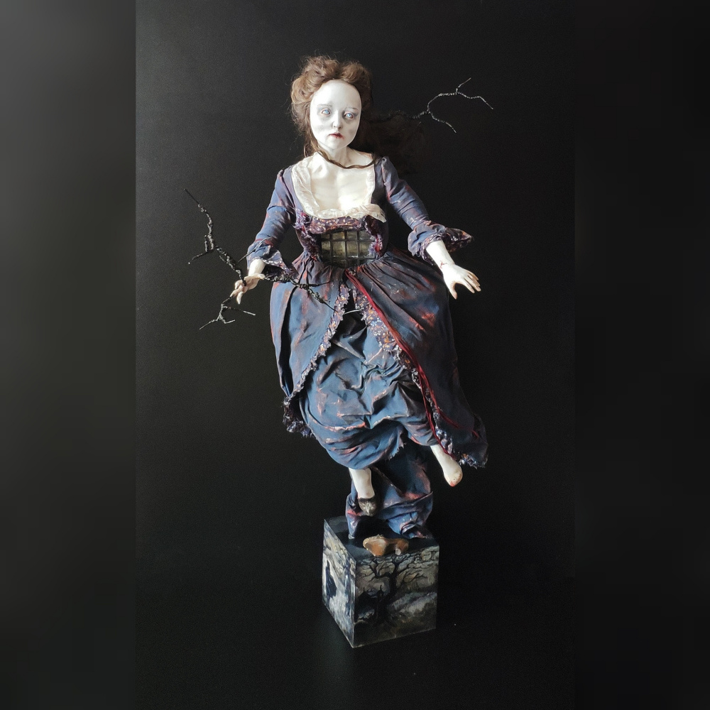 "Rita Dadykin. Author's doll ""Cathy's Ghost"" (based on the novel ""Wuthering Heights"" by E. Bronte)"