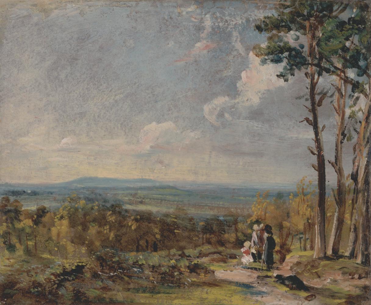 John Constable. Hampstead Heath, valley view