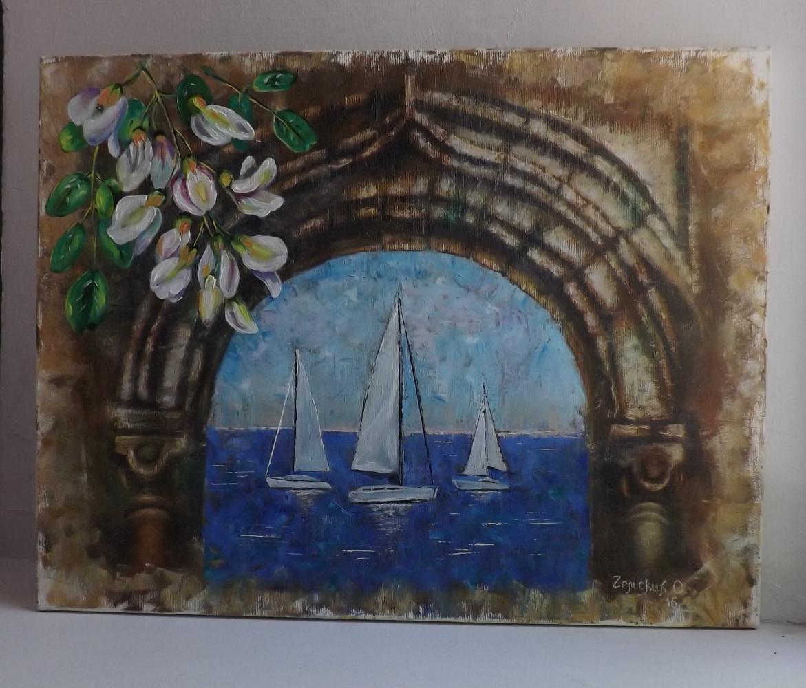 Olga Zemsky. Arch with sea view