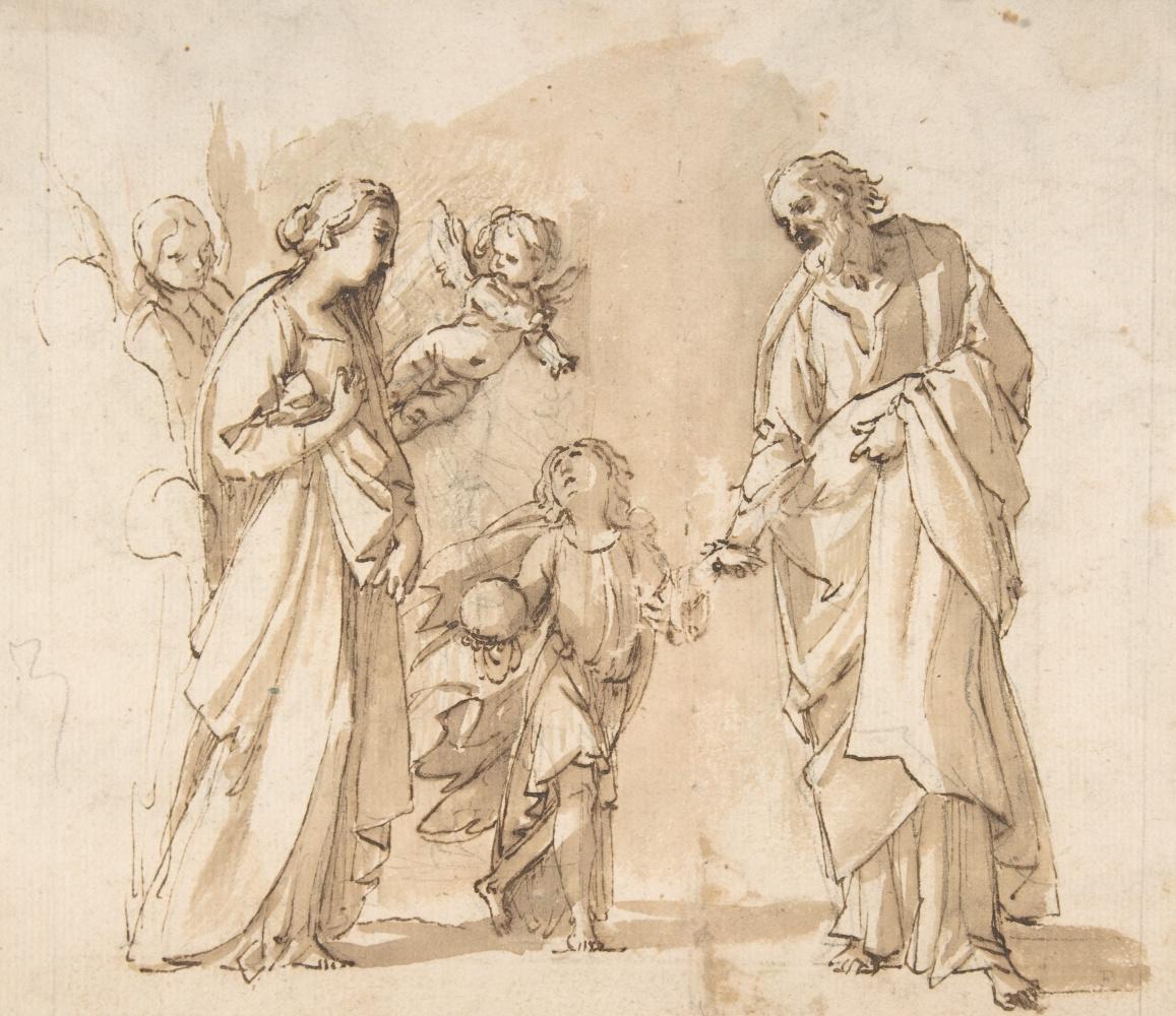 Джованни Бальоне (Баглионе). Святое семейство. Возвращение из Египта. Эскиз