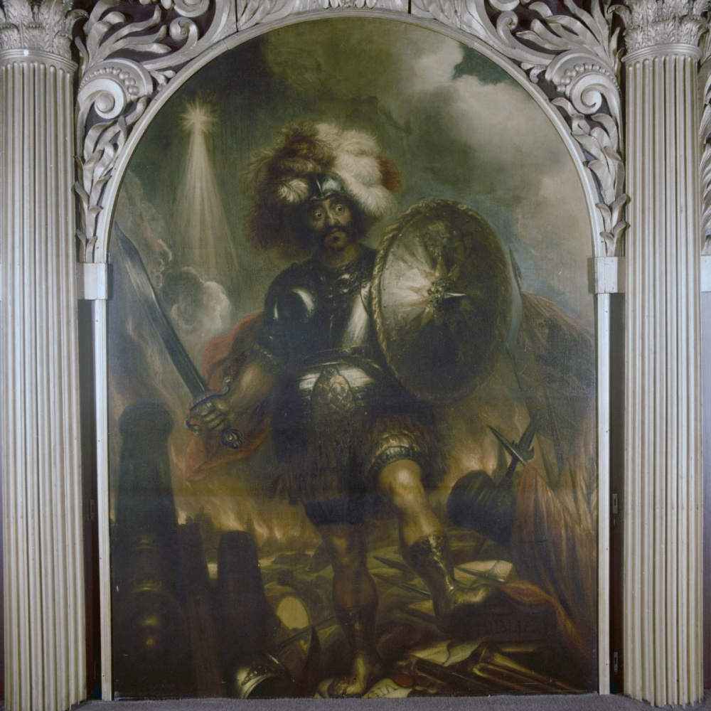 Allegory Of War. Mars, trampling the symbols of religion and law