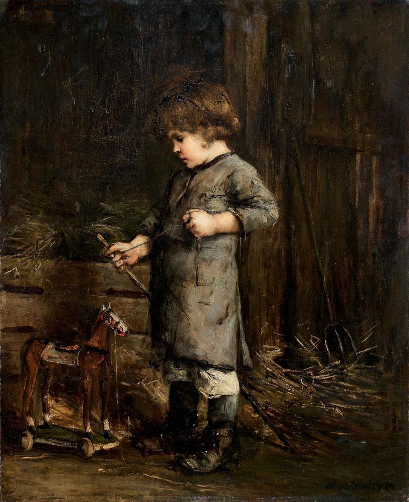 Михай Либ Мункачи. Мальчик с деревянной лошадью
