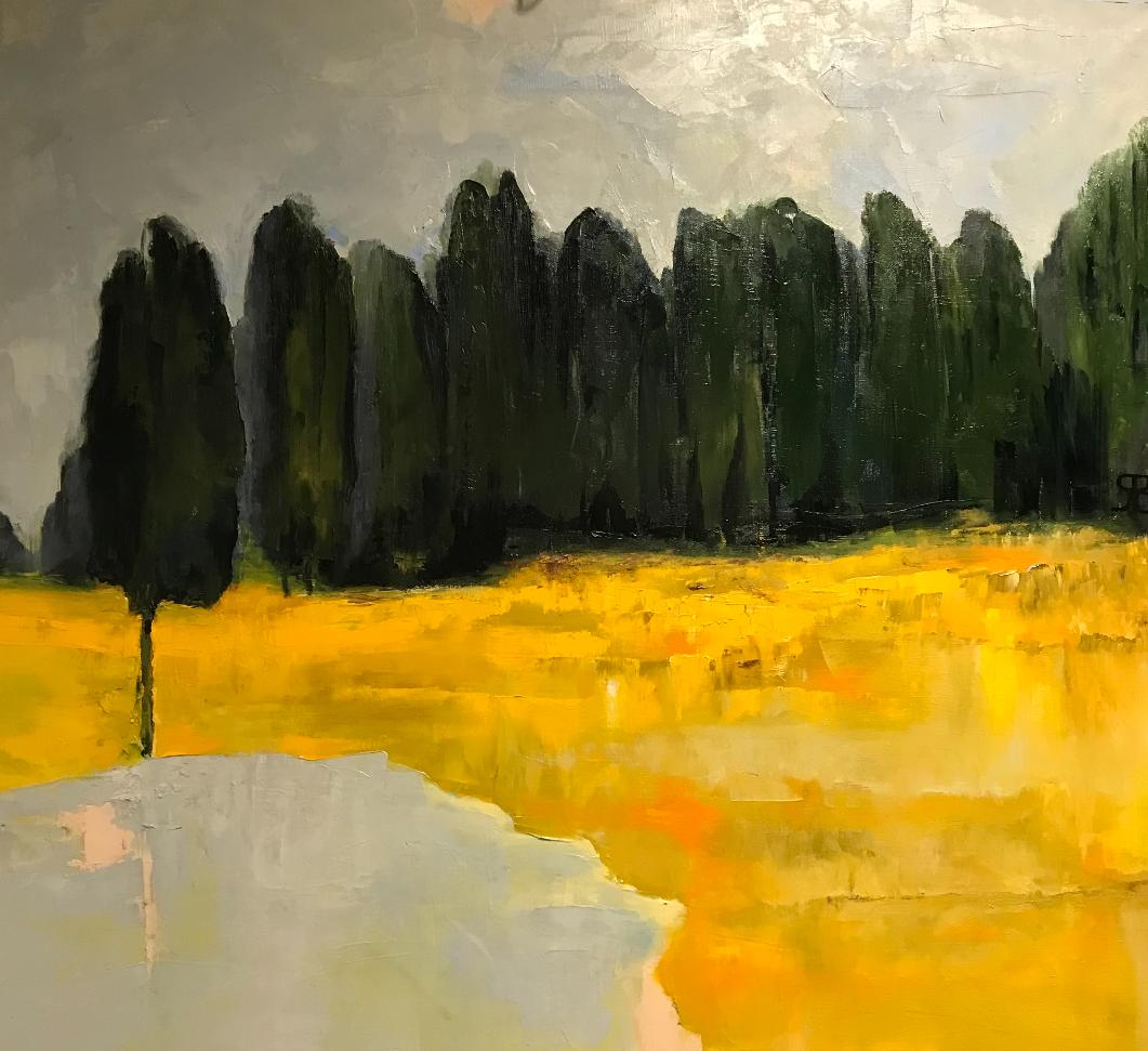Boris Rachkovskiy. Evening forest and lake