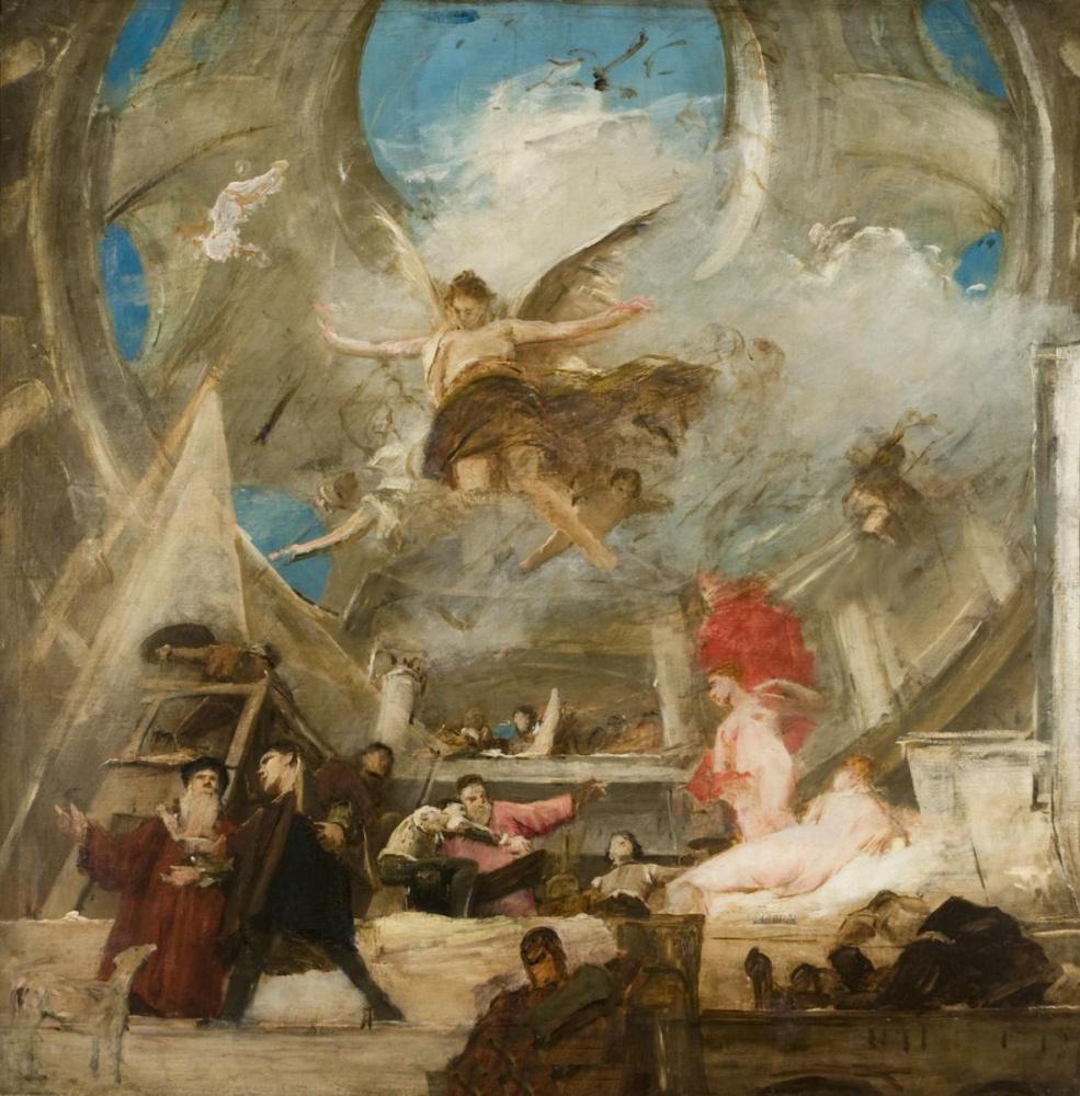 Михай Либ Мункачи. Эскиз росписи потолка музея истории искусств в Вене