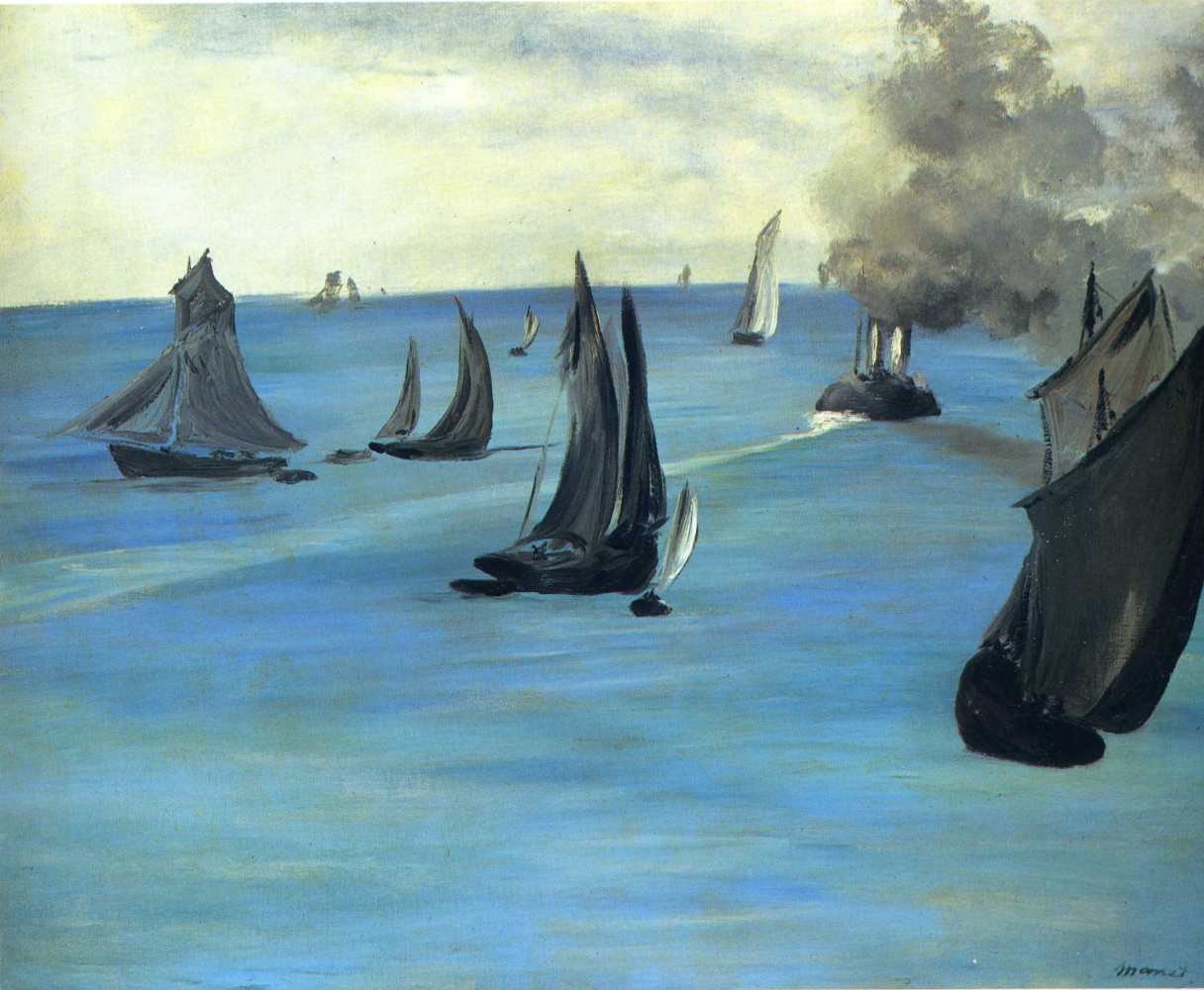 Edouard Manet. The ship leaves from Boulogne