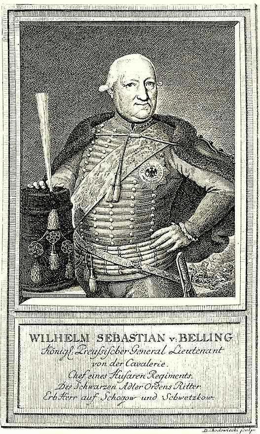Даниэль  Николай Ходовецкий. Портрет Вильгельма Себастьяна фон Беллинга