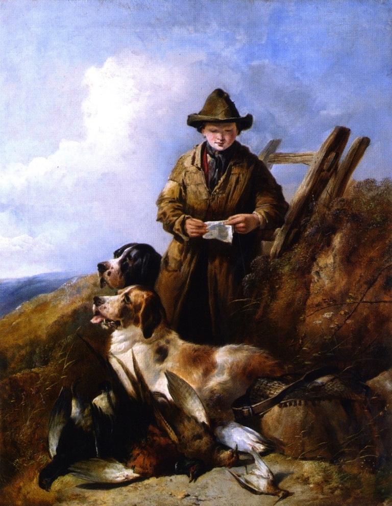Уильям Моррис. Юный охотник с собаками и трофеями