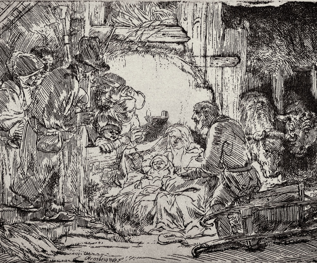Rembrandt Harmenszoon van Rijn. The adoration of the shepherds
