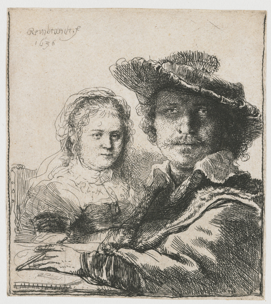 Rembrandt Harmenszoon van Rijn. Self-portrait with Saskia