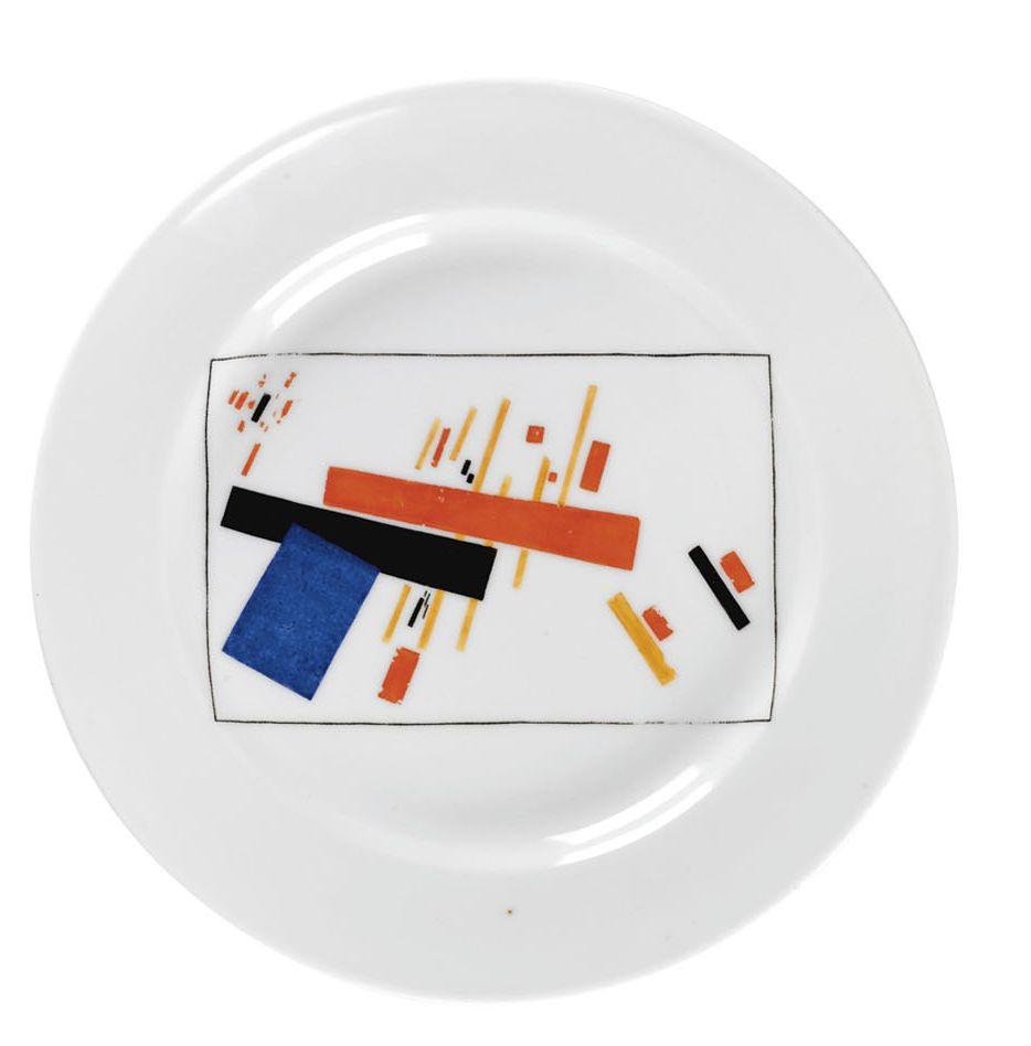 Казимир Северинович Малевич. Советская супрематическая фарфоровая тарелка с рисунком по эскизу К. Малевича