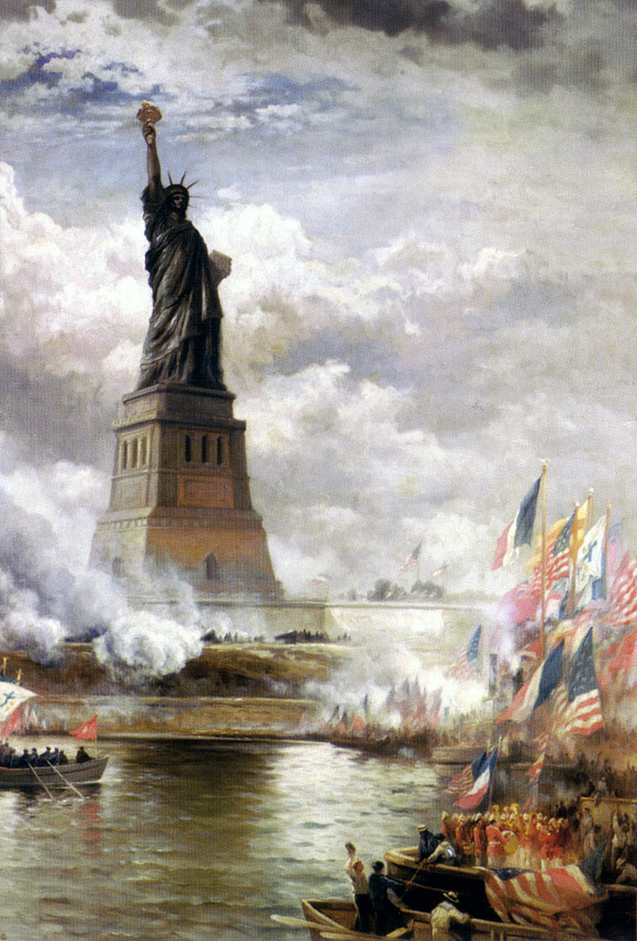 Edward Moran. The Unveiling Of The Statue Of Liberty