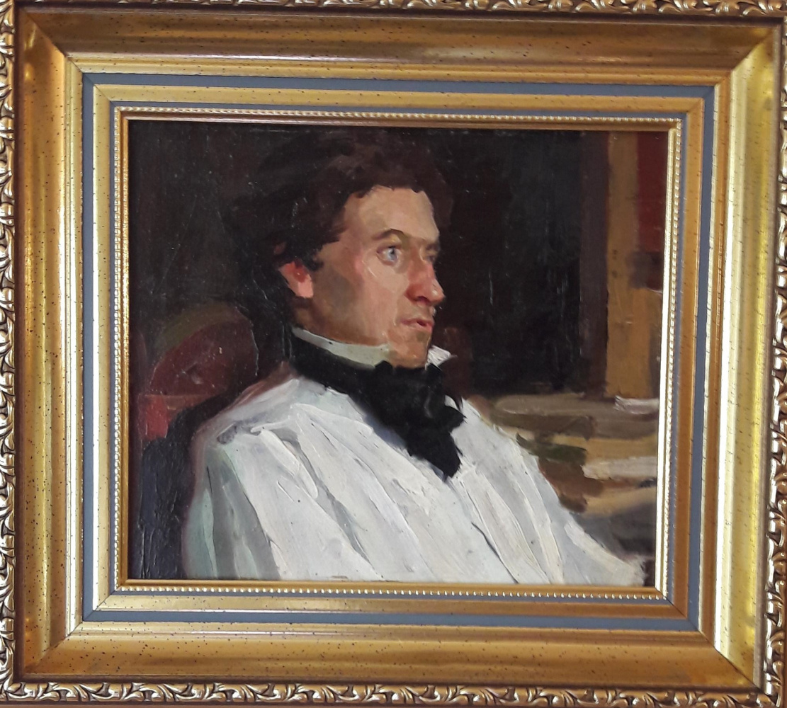 Mikhail Alexandrovich Kupriyanov. Pushkin. Study for a painting.