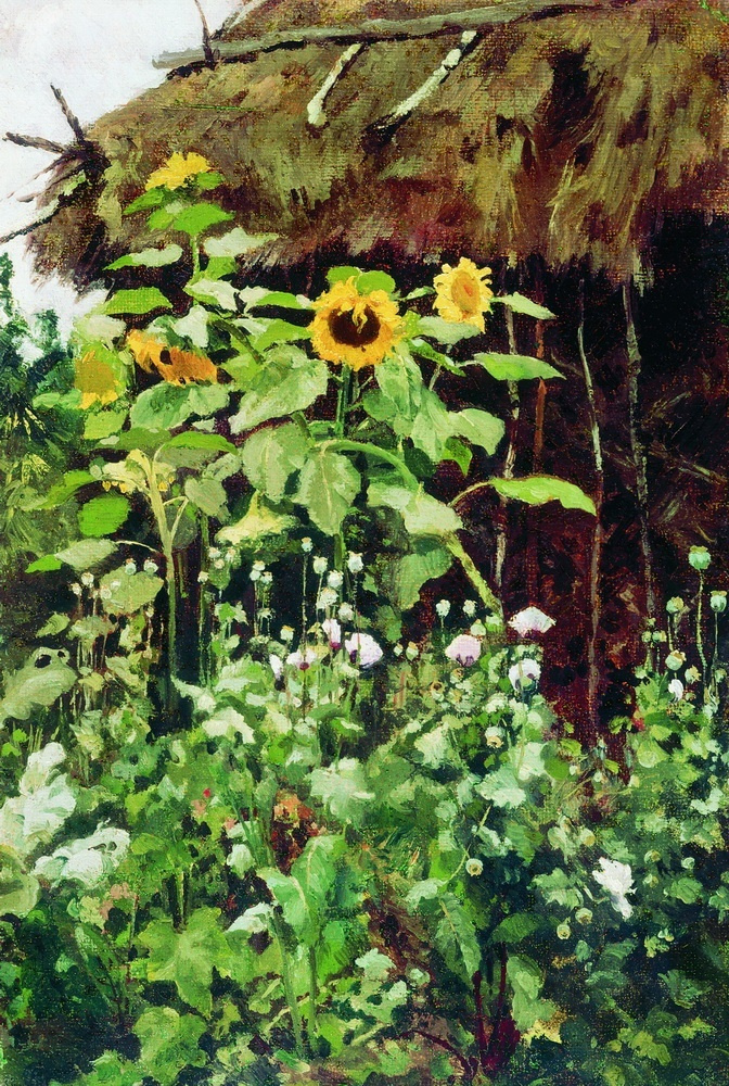 Elena Dmitrievna Polenova. Sunflowers