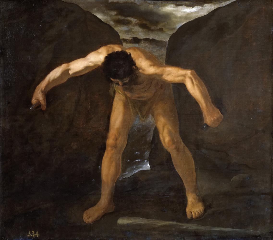 Francisco de Zurbaran. Hercules separating the mountains of Calpe and Abil
