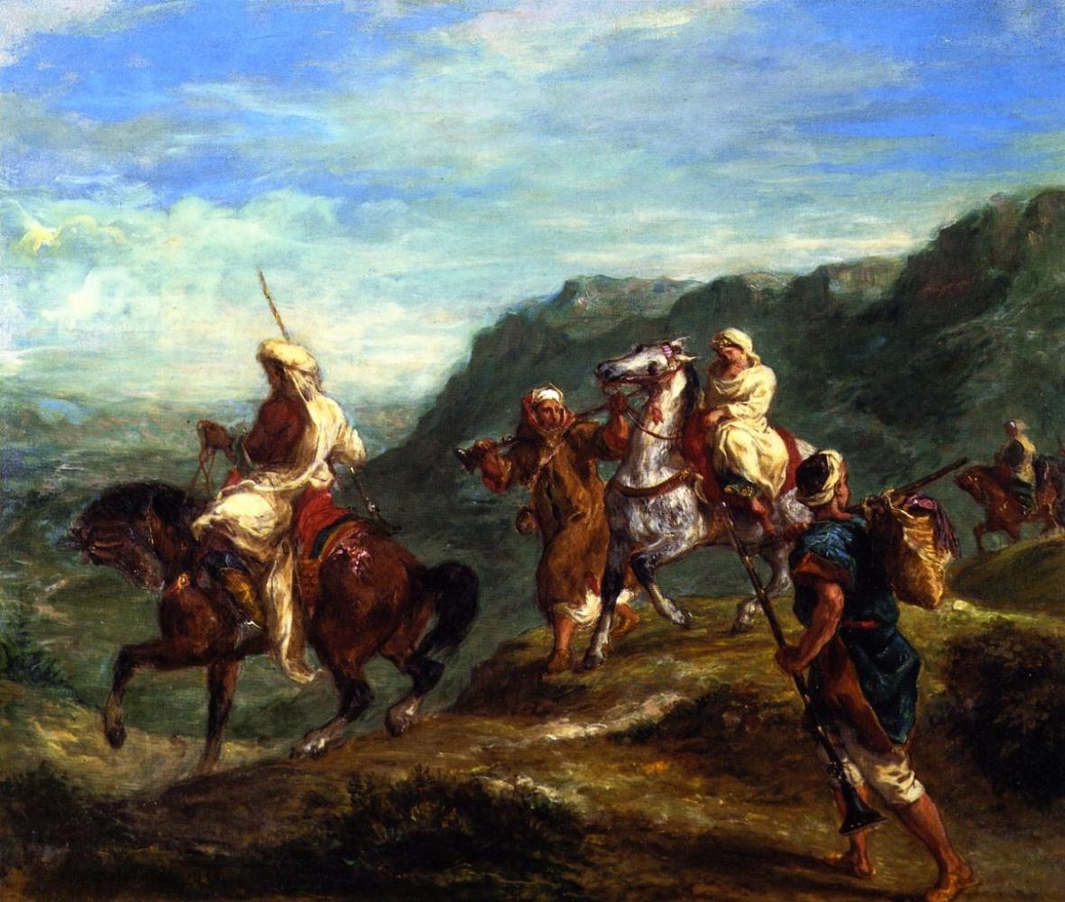 Eugene Delacroix. The Arabs travel