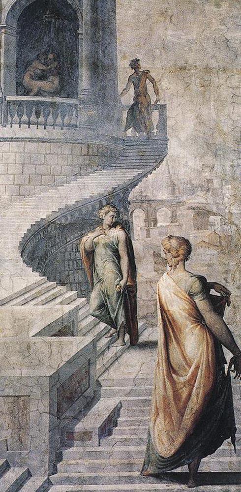 Франческо Сальвиати. Чеккино дель Вирсавия идет к царю Давиду
