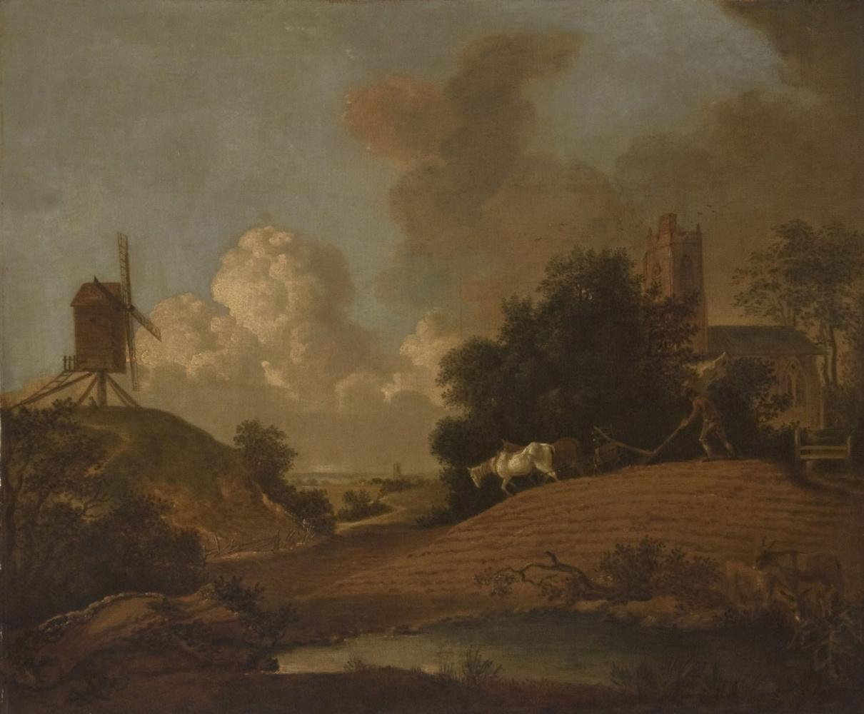 Томас Гейнсборо. Пейзаж с ветряной мельницей