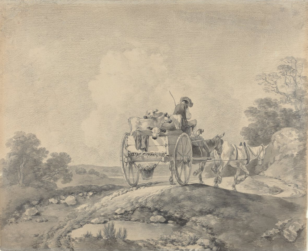 Thomas Gainsborough. The wagon with the calves
