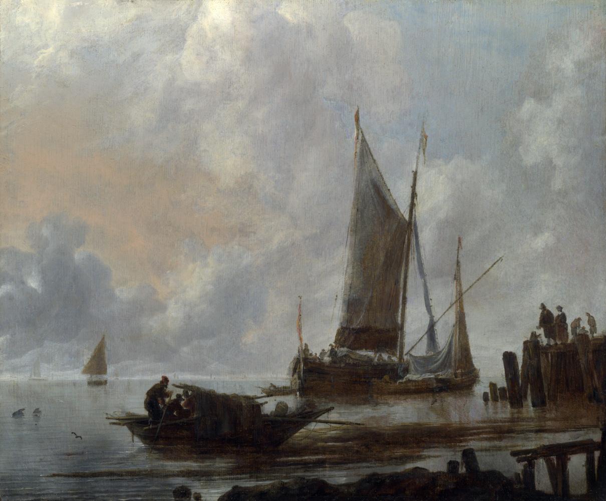 Ян ван де Каппель. Суда на якоре
