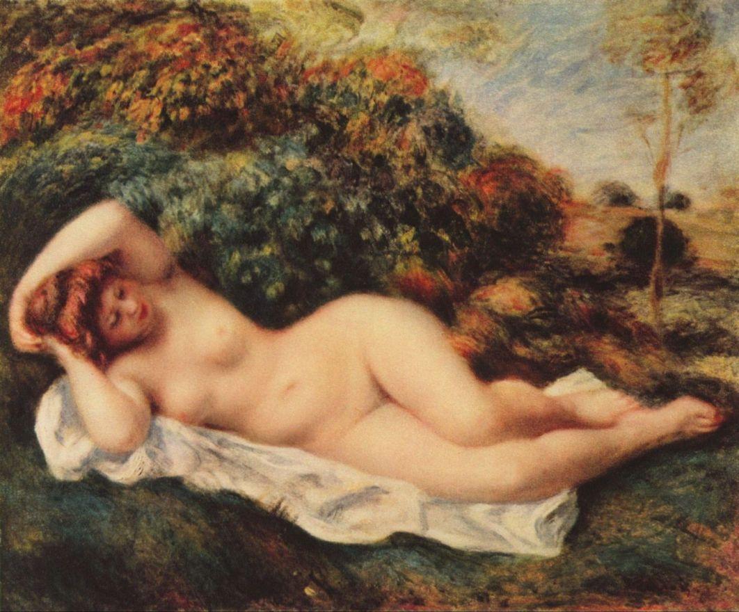 Пьер Огюст Ренуар. Спящая купальщица