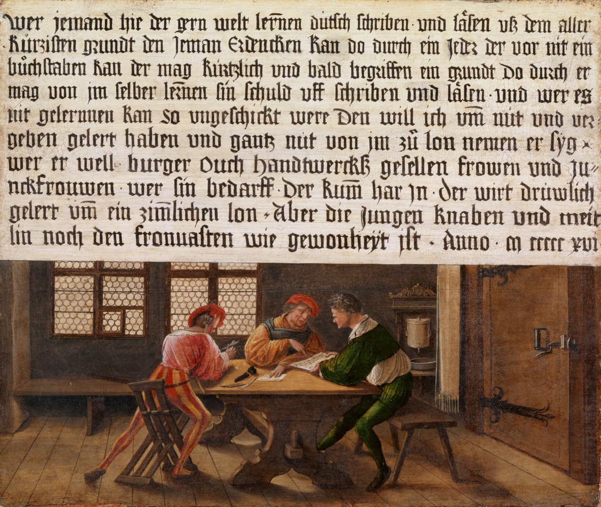 Hans Holbein the Younger. Rules for the school teacher. Classes for adults