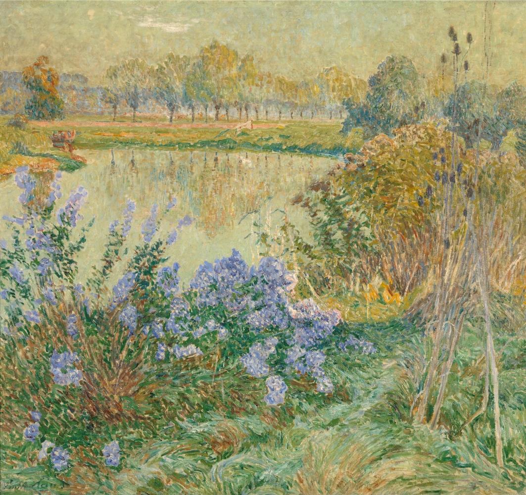 Emil Klaus. Flowers on the shore