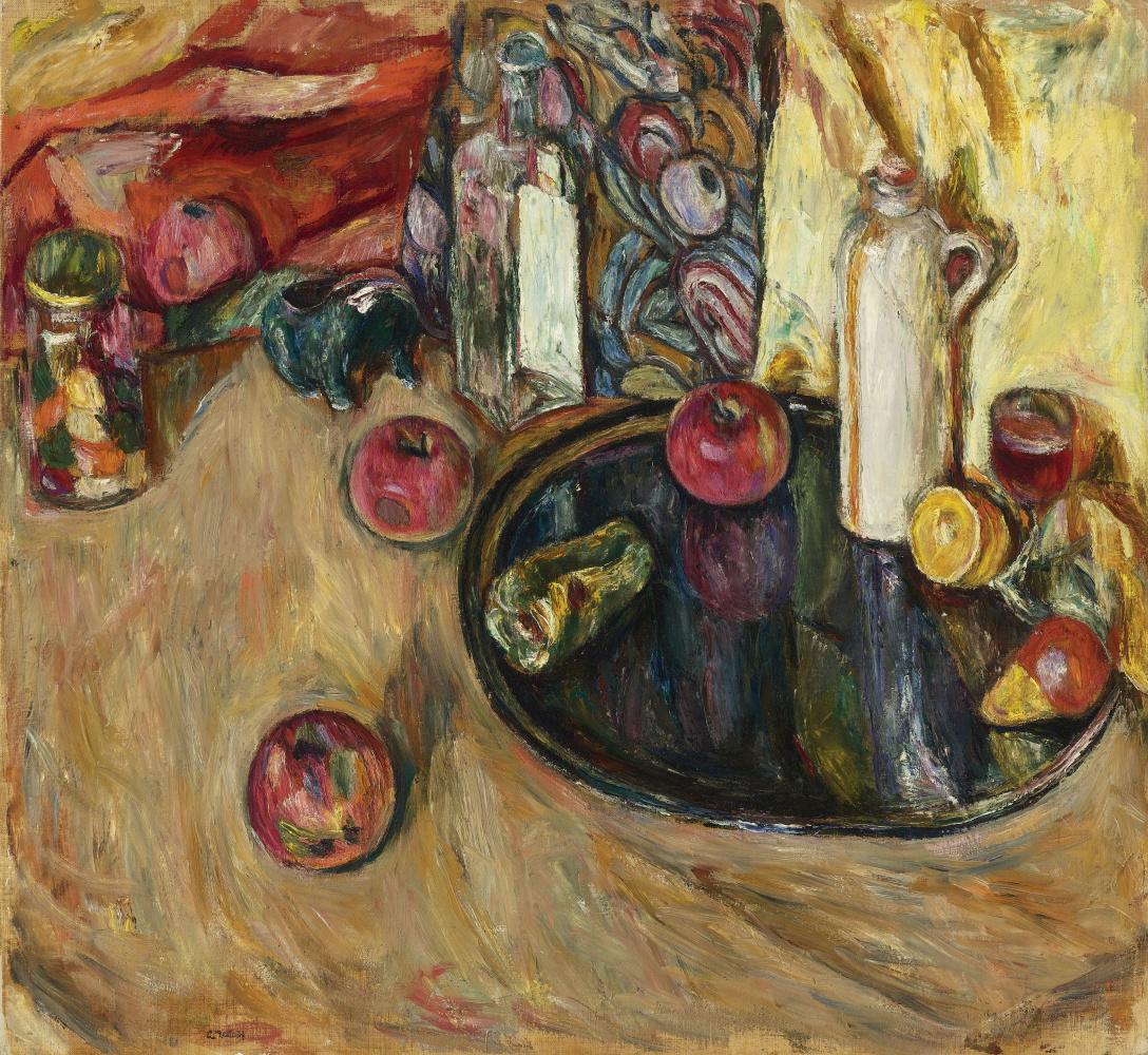 Abram Anshelevich Manevich. Still life with apples