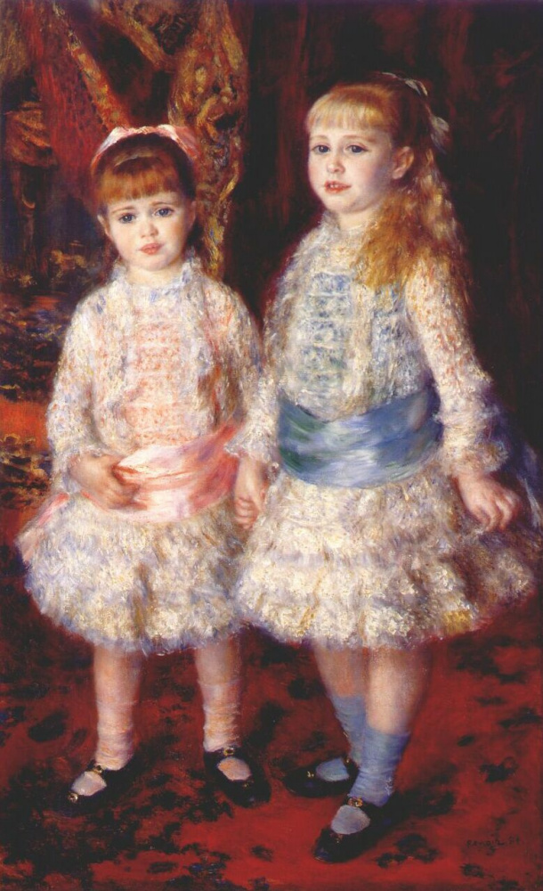 Pierre-Auguste Renoir. Pink and blue (Alice and Elizabeth Cohen d'anver)