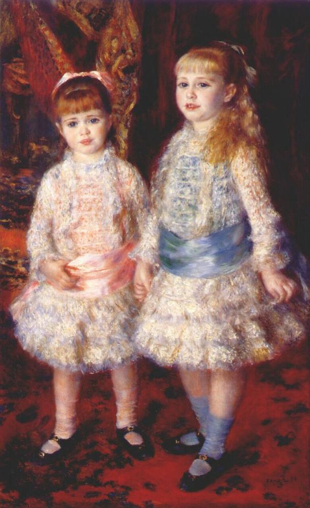 Pierre-Auguste Renoir. Pink and blue (Alice and Elizabeth Cohen d'anver)