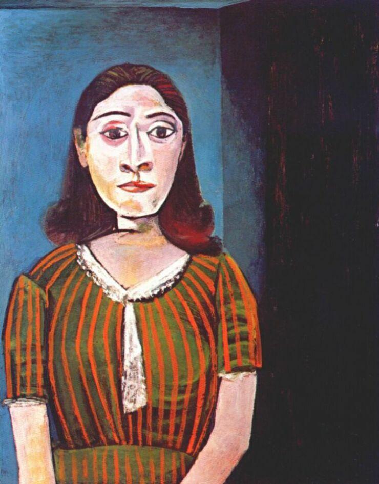 Пабло Пикассо. Женщина в атласной блузке (Дора Маар)