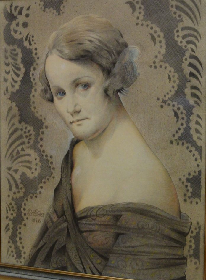 Mikhail Ivanovich the Beetle. Portrait of actress Natalia Uzhviy
