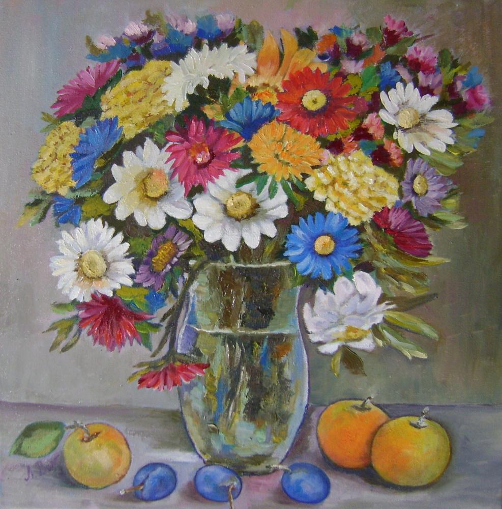 Lyubov Viktorovna Volobaeva. Fall flowers