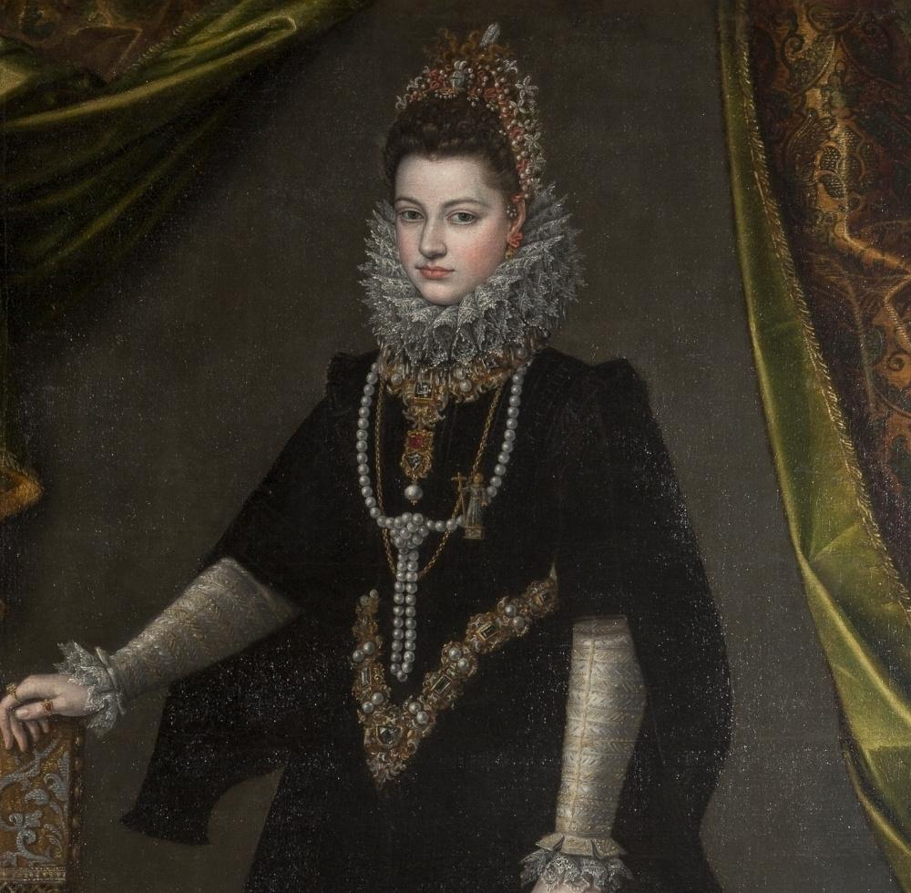 Sofonisba Angisola. Portrait of Infanta Isabella Clara Eugenia. Fragment