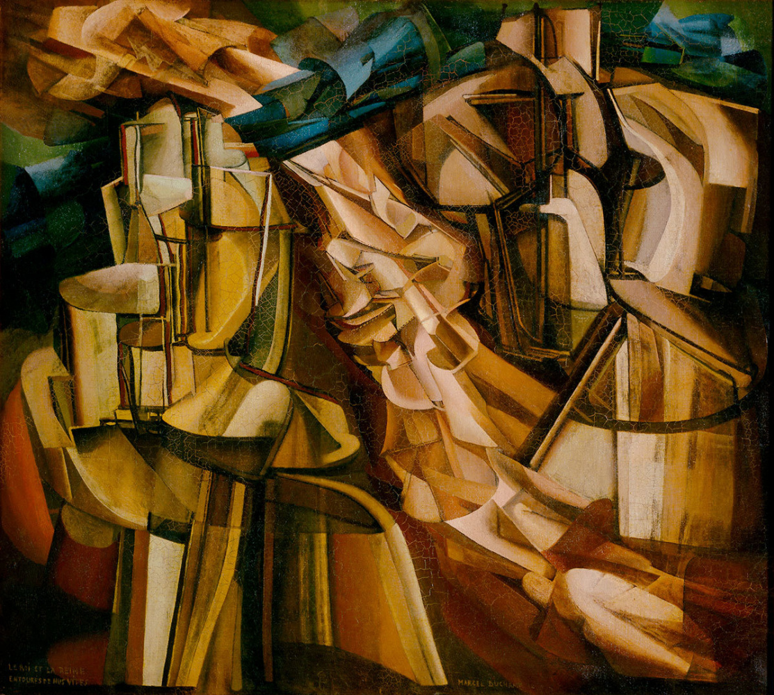 Marcel Duchamp. The king and queen surrounded by naked rapids