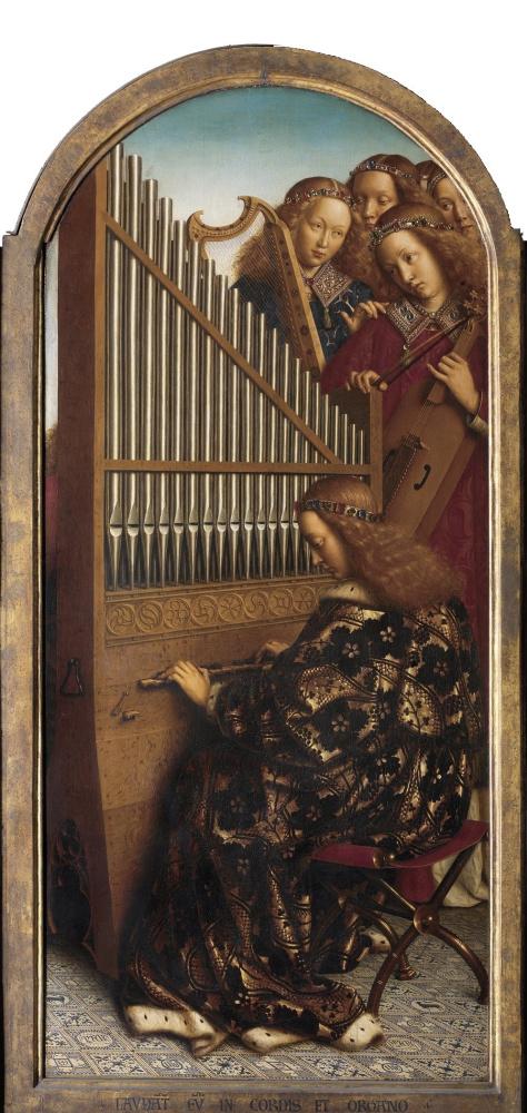 Губерт ван Эйк. Гентский алтарь. Ангелы (фрагмент)
