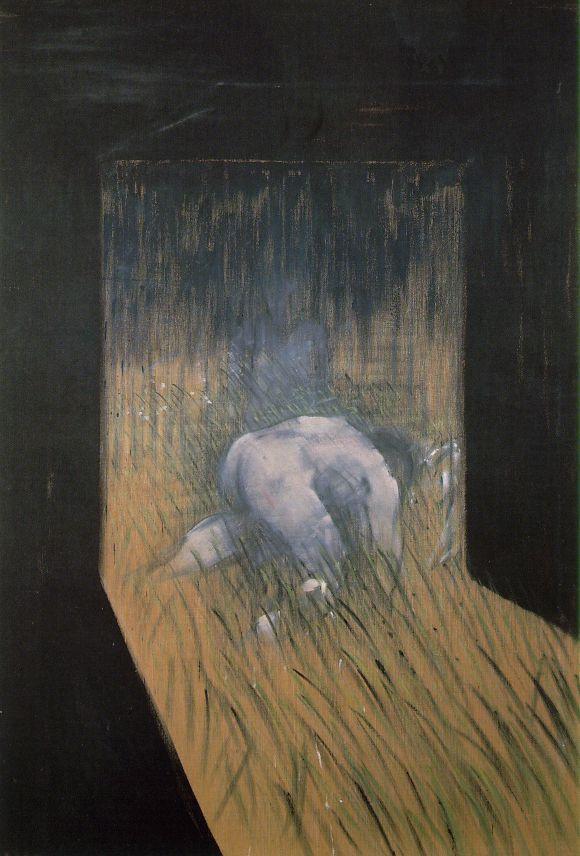 Фрэнсис Бэкон. Человек на коленях в траве