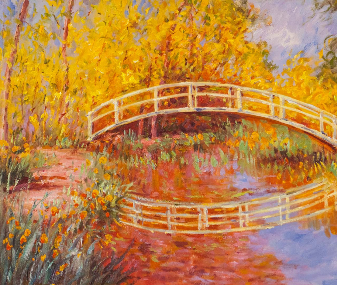 "Savely Kamsky. Copy of the painting ""The Japanese Bridge (Bridge in the Monet's Garden)"", 1895-1896"