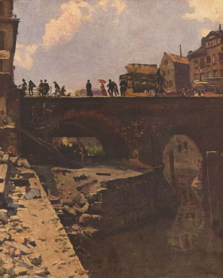 Станислав Лепен. Мост во французском городе