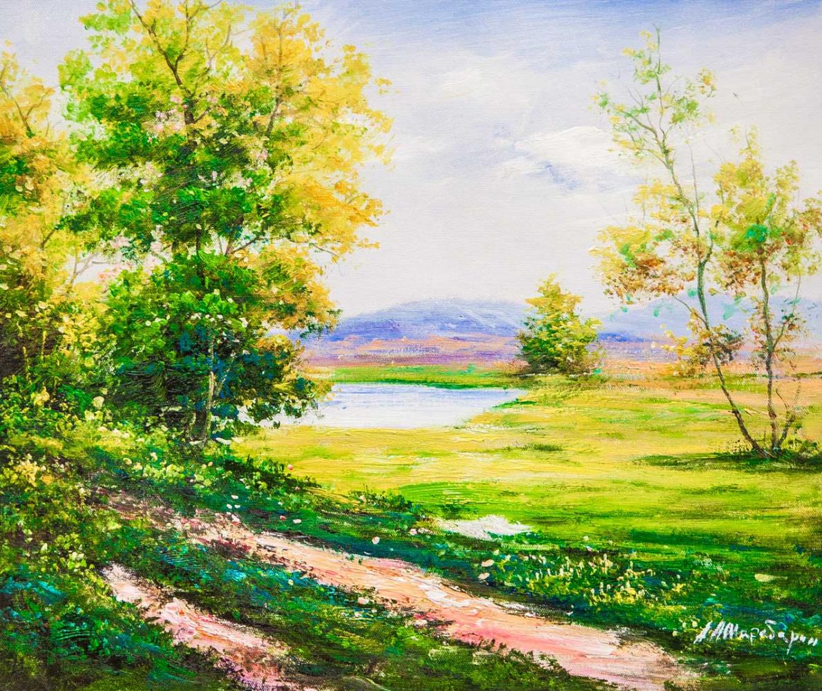 Andrey Sharabarin. Летний день. Вид на озеро и горы