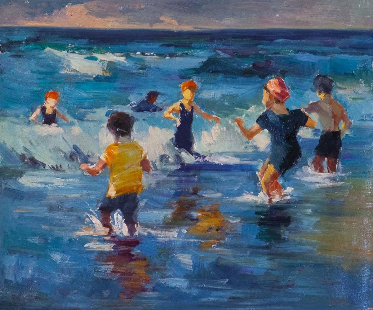 Savely Kamsky. Дети и море. Водные игры