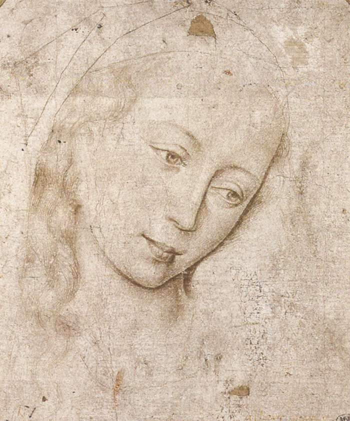 Рогир ван дер Вейден. Голова Мадонны