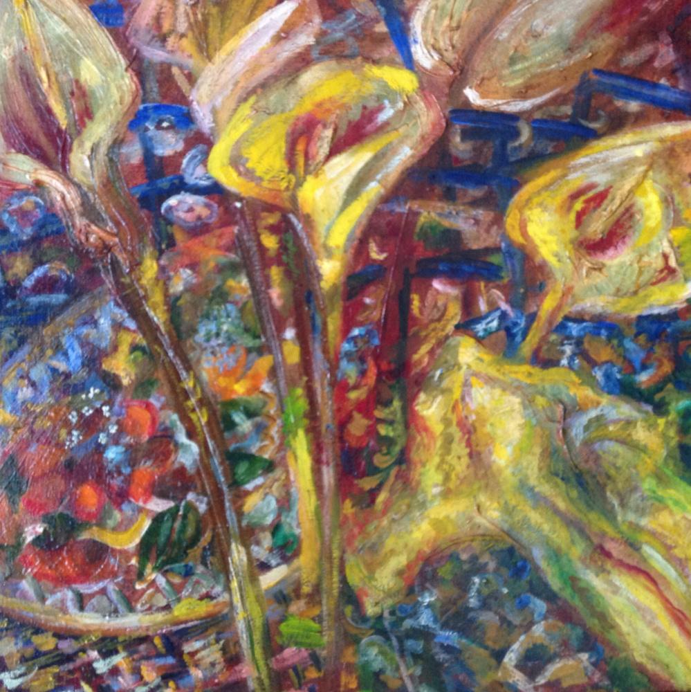 Agnessa Morkovina. Flowers and a plate