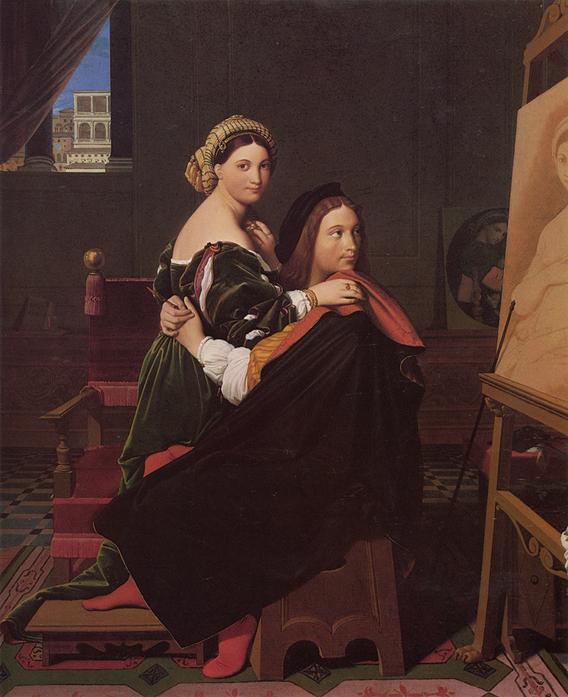 Jean Auguste Dominique Ingres. Raphael and the Fornarina